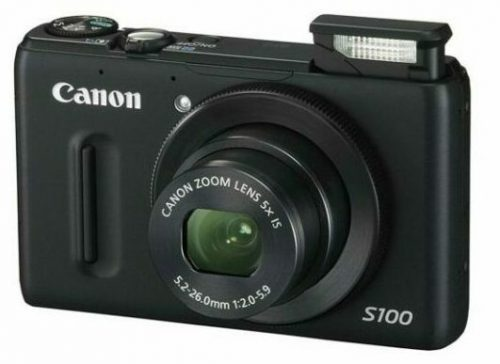Canon PowerShot S100 12.1 MP Digital Camera with 5x Wide-Angle Optical Image