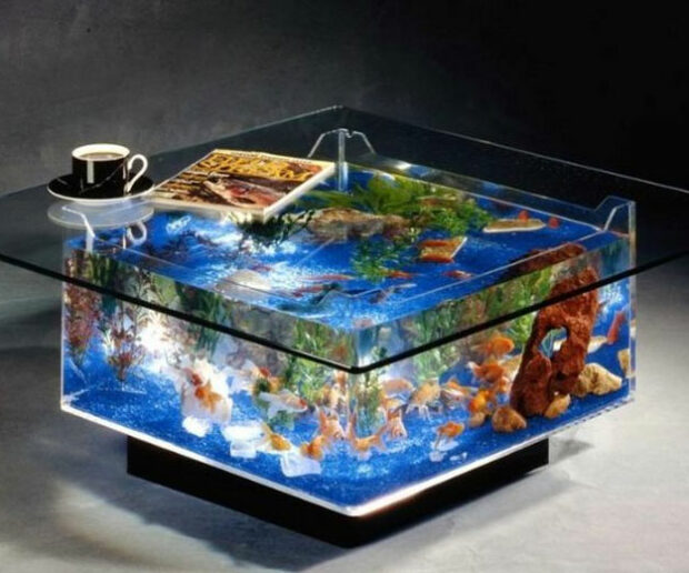 Best gift for man Coffee Table Aquarium