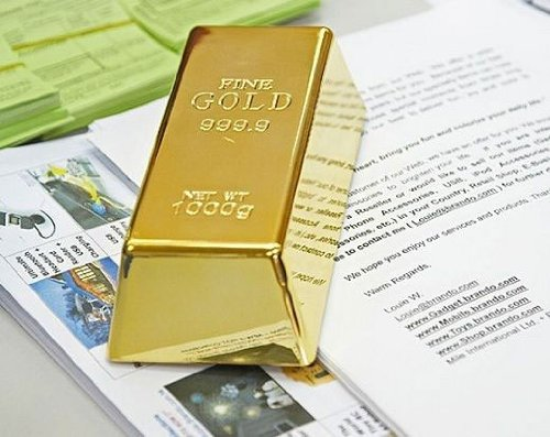 Gold Bar Door Stop GIFT for Man