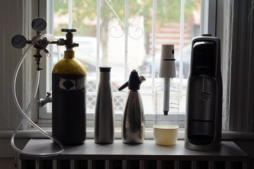 The DIY, Purefizz, iSi Soda Siphon and Sodastream options.